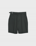 비슬로우(BESLOW) 20SS REGULAR GURKHA SHORTS DARK GREEN