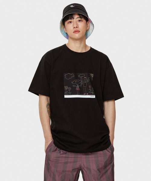 마크엠(MARKM) My Family T-Shirts BK