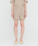 가브리엘리() 20SS TAILORED SHORTS WITH BELT DETAIL - GREIGE
