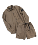 피스메이커(PIECE MAKER) NYLON SHIRTS SHORTS SET (KHAKI OLIVE)