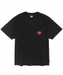 이벳필드() TWO TONE HOMEBASE LOGO S/S BLACK