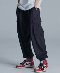 낫포너드(NOT4NERD) Wide String Cargo Slacks Pants Black