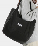 몬스터리퍼블릭(MONSTER REPUBLIC) MSRC LOGO POCKET CANVAS BAG / BLACK