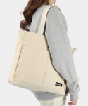 몬스터리퍼블릭(MONSTER REPUBLIC) MSRC LOGO TWO POCKET CANVAS BAG /  IVORY