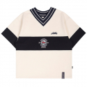 로맨틱크라운(ROMANTIC CROWN) PERFECT GAME V NECK JERSEY_OATMEAL
