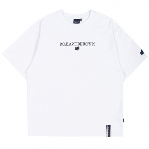 로맨틱크라운(ROMANTIC CROWN) RMTCRW LOGO TEE_WHITE