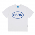 블론드나인() CIRCLE BLDN BLUE LOGO T-SHIRTS_WHITE