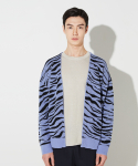 왓에버위원트() Tiger-pattern Cardigan [Light purple]