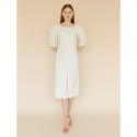 오이아우어(OIAUER) Volume Sleeve One-piece in Beige
