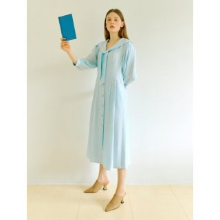 오이아우어(OIAUER) Sailor Linen One-piece in Sky Blue