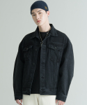 집시(JIPSY) BLACK WASHED DENIM TRUCKER