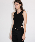 433 SLEEVELESS(BLACK)
