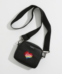 론론() HEART LOGO SQUARE BAG BLACK