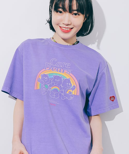TRIPLE BEARS T-SHIRT PIGMENT PURPLE
