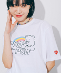 론론(RONRON) RAINBOW LOGO T-SHIRT WHITE