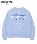 덕다이브() WORLD WIDE CREWNECK LIGHT BLUE