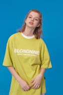 블론드나인(BLOND9) ORIGINAL WHITE LOGO T-SHIRTS_LIME