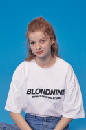 블론드나인(BLOND9) ORIGINAL BLACK LOGO T-SHIRTS_WHITE