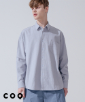 씨오큐() Overfit solid linen shirt_blue