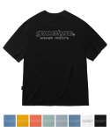 그루브라임(GROOVE RHYME) ADJOIN LOGO T-SHIRTS (8COLOR) [GTS746I23]