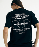 그루브라임(GROOVE RHYME) MILLION BOY PRINT T-SHIRTS (BLACK) [GTS759I23BK]