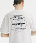 그루브라임(GROOVE RHYME) MILLION BOY PRINT T-SHIRTS (WHITE) [GTS759I23WH]