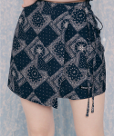 네스티팬시클럽(NASTY FANCY CLUB) [NF]FANCY PAISLEY BUTTERFLY LAB SKIRT (NAVY)(20SS-F710)