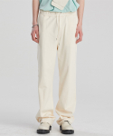 알렌느() CREAM wide fit cotton pants(LB004)