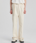 알렌느() CREAM belted wide fit denim pants(LB001)