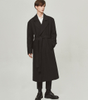 단하우스(DAAN HAUS) BLACK Oversized Robe Coat