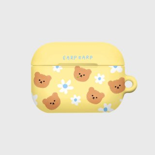 어프어프(EARPEARP) Dot flower bear-yellow(Hard air pods pro)