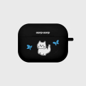어프어프(EARPEARP) Awesome cat-black(Air pods pro case)