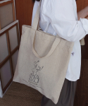 디어마이디어(DEARMYDEER) Linen two way bag_Ivory