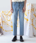 널() Side Banding Tapered Crop Denim_GB