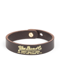 와일드 브릭스(WILD BRICKS) SG WRAP LEATHER BRACELET (dark brown)