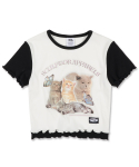 스컬프터(SCULPTOR) Kitten Layered Tee [WHITE]