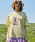 로라로라() (TS-20304) PLEASE BE LAZY T-SHIRT LEMON