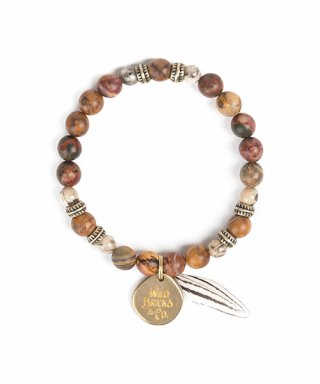 와일드 브릭스(WILD BRICKS) FEATHER BRACELET (beige)