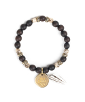와일드 브릭스(WILD BRICKS) FEATHER BRACELET (dark brown)