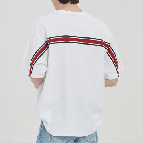 로맨틱크라운(ROMANTIC CROWN) FRIDAY BACK LINE TEE_WHITE