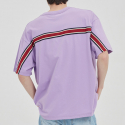 로맨틱크라운(ROMANTIC CROWN) FRIDAY BACK LINE TEE_PURPLE