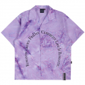 로맨틱크라운(ROMANTIC CROWN) ARCH LOGO TIE DYE SHIRT_PURPLE