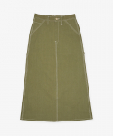 유니버셜 오버롤(UNIVERSAL OVERALL) HERRINGBONE PAINTER SKIRT OLIVE