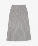 유니버셜 오버롤(UNIVERSAL OVERALL) HICKORY PAINTER SKIRT NAVY X WHITE