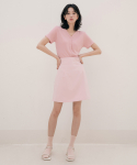 리올그(REORG) DUL-MINI SKIRT BABY PINK