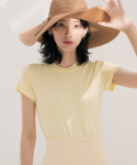 리올그(REORG) DUL BASIC T-SHIRTS LEMON YELLOW