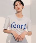 리올그(REORG) R PRINTING PUFF T-SHIRTS LIGHT BLUE