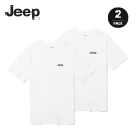 지프(JEEP) [2PACK] Half T-Shirts (GL5TSU598WH)