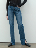 르(LE) slim slit denim (deep jean)