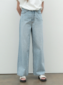 르() wide denim pants (denim)